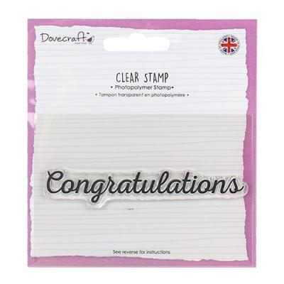 Dovecraft Clear Stamp - Congratulations