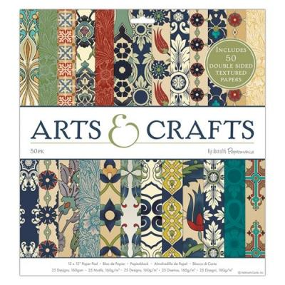 Arts & Crafts - 12x12 Inch, 50 Blatt
