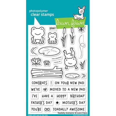 Lawn Fawn Clear Stamps Toadally Awesome