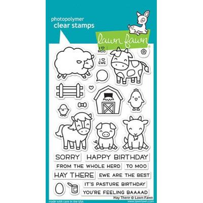 Lawn Fawn Clear Stamps Hay There
