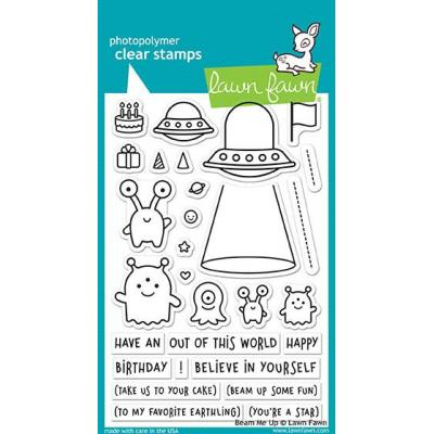 Lawn Fawn Clear Stamps Beam Me Up