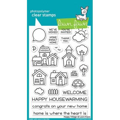 Lawn Fawn Clear Stamps Happy Village
