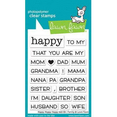 Lawn Fawn Clear Stamps Happy Happy Happy Add-On: Family