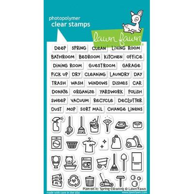 Lawn Fawn Clear Stamps - Plan on It: Spring Cleaning