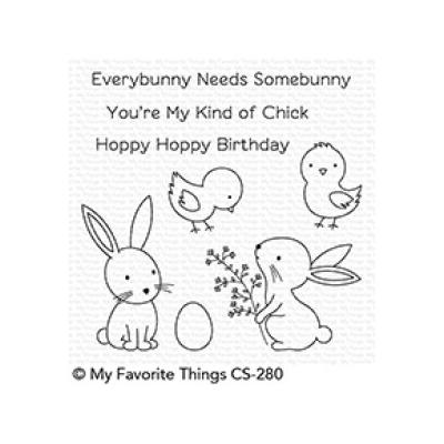 My Favorite Things Clear Stamp Hoppy Friends