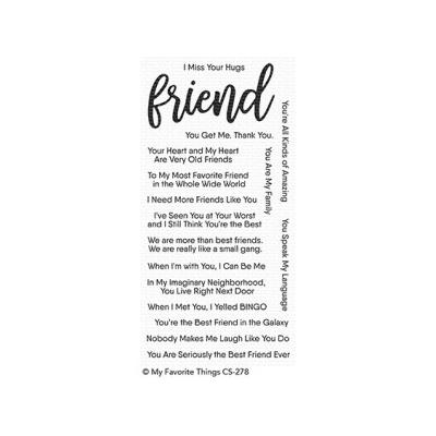 My Favorite Things Clear Stamp Anything-but-Basic Friendship