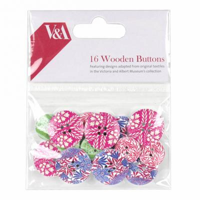 First Edition V&A Wooden Buttons