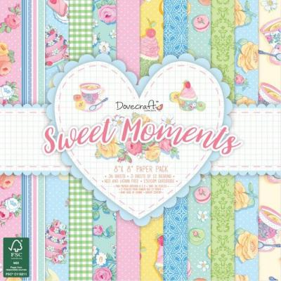 Dovecraft Sweet Moments 8x8 Inch Paper Pad
