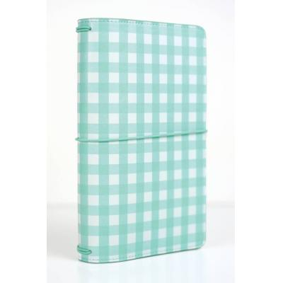 Echo Park Travelers Notebook - Teal Gingham