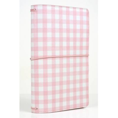 Echo Park Travelers Notebook - Pink Gingham