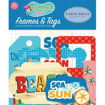 Carta Bella Summer Splash - Frames & Tags Ephemera