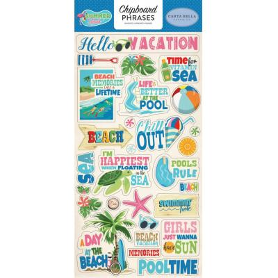 Carta Bella Summer Splash - Chipboard Phrases
