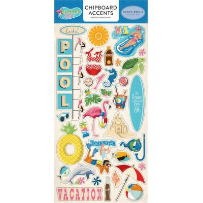 Carta Bella Summer Splash - Chipboard Accents