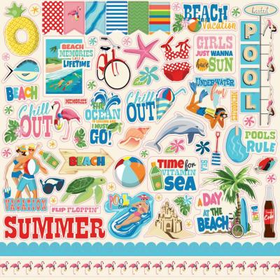 Carta Bella Summer Splash - Stickerbogen