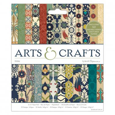Arts & Crafts - 6x6 Inch, 50 Blatt