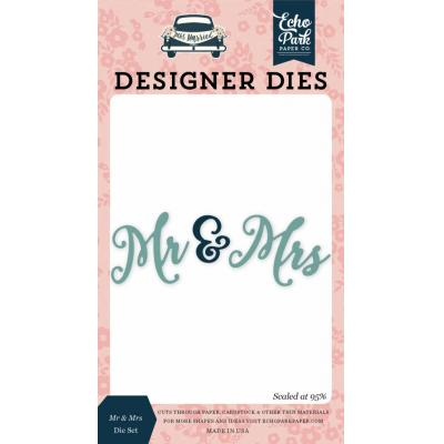 Echo Park Just Married - Mr & Mrs Die Set