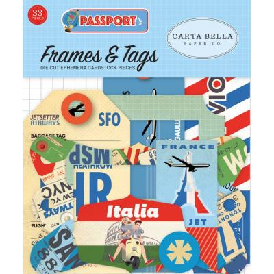Carta Bella Passport - Frames & Tags