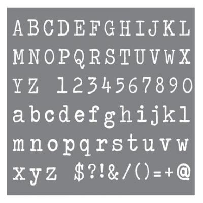 Andy Skinner Stencil Typeface