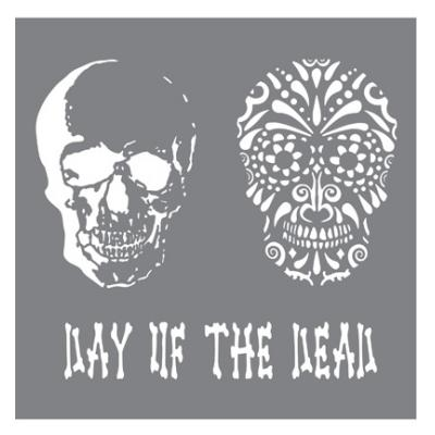 Andy Skinner Stencil Day of the Dead
