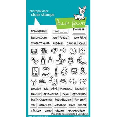 Lawn Fawn Clear Stamps - Plan on it: Appointments
