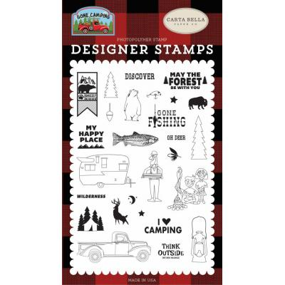 Carta Bella Clear Stamps Gone Camping - My Happy Place