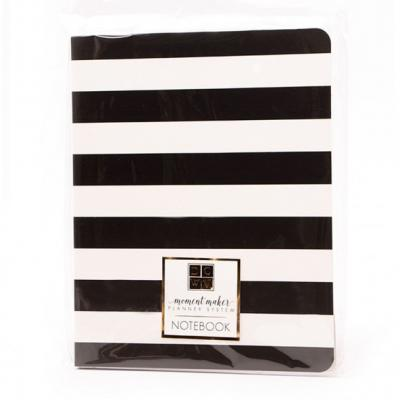 DCWV Notebook Planner - Black Stripe