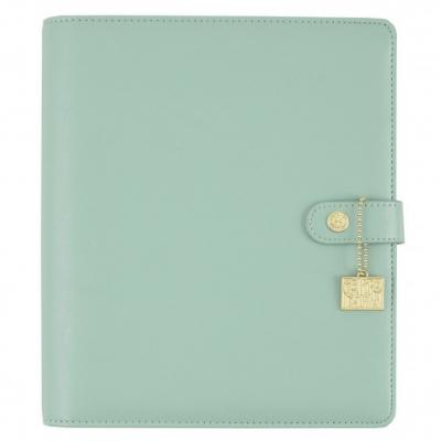 Carpe Diem split leather planner A5 Robin's egg