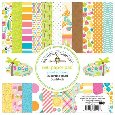 Doodlebugs Sweet Summer - 6x6 Paper Pad