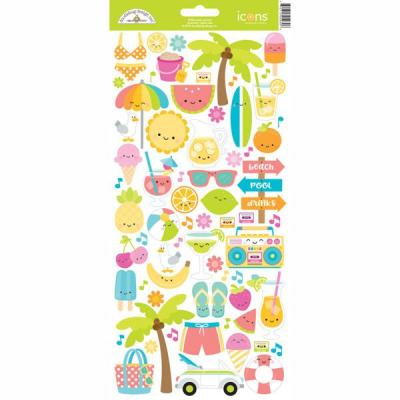 Doodlebug Sweet Summer - Icons Sticker