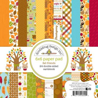 Doodlebugs Fall Friends - 6x6 Paper Pad