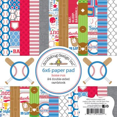 Doodlebugs Home Run - 6x6 Paper Pad