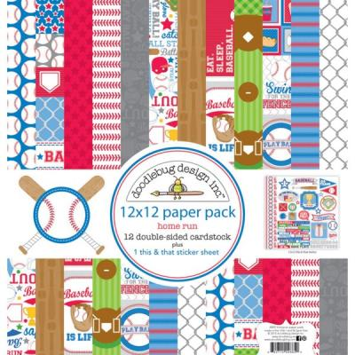 Doodlebugs Home Run - 12x12 Paper Pack