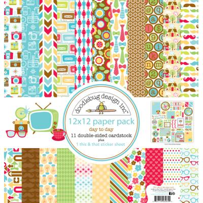Doodlebugs Day to Day - 12x12 Paper Pack