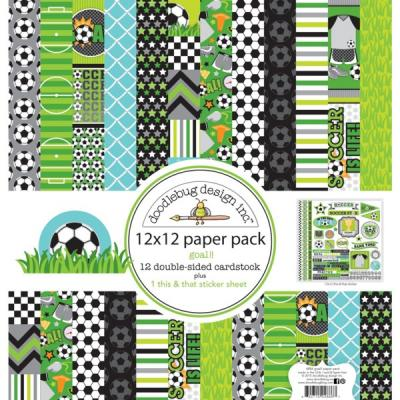Doodlebugs Goal! - 12x12 Paper Pack