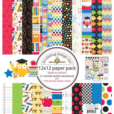 Doodlebugs Back to School - 12x12 Paper Pack