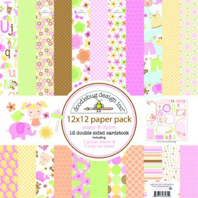 Doodlebugs Sugar & Spice - 12x12 Paper Pack