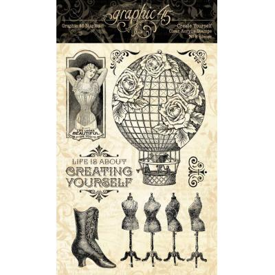 Graphic 45 Clear Stamps Imagine - Create Yourself