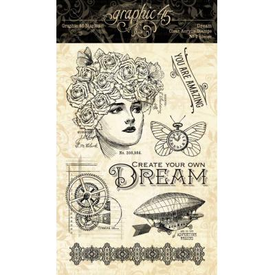 Graphic 45 Clear Stamps Imagine - Dream