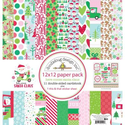 Doodlebug Here comes Santa Claus - 12x12 Paper Pack