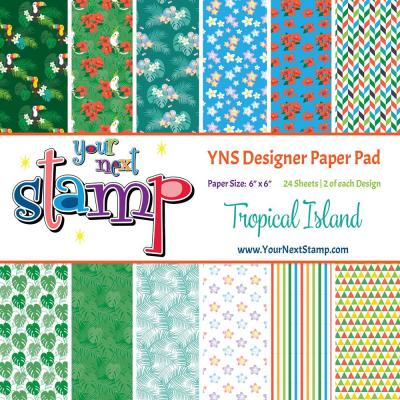 Your Next Stamp Paper Pad Tropical Island