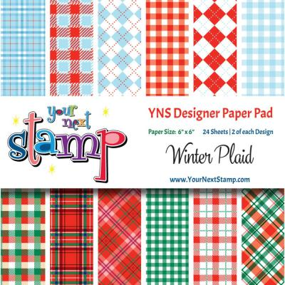 Your Next Stamp Paper Pad Winter Plaid