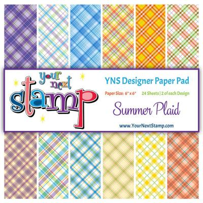 Your Next Stamp Paper Pad Summer Plaid