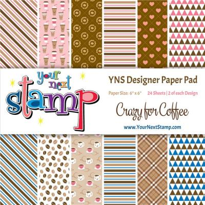 Your Next Stamp Paper Pad Crazy for Coffee