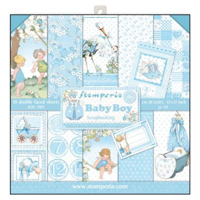 Stamperia Paper Pad - Baby Boy
