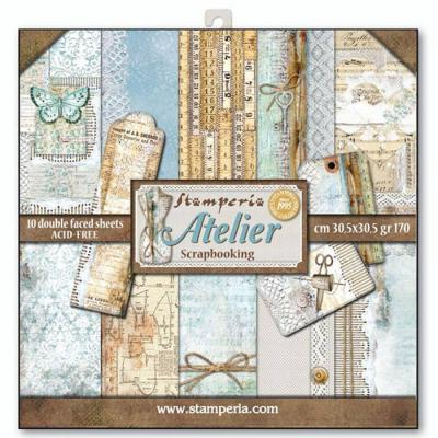 Stamperia 12x12 Inch Paper Pad - Atelier