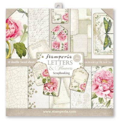 Stamperia Paper Pad - Letters & Flowers