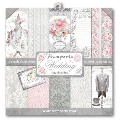 Stamperia 12x12 Inch Paper Pad - Wedding