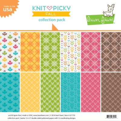 Lawn Fawn Knit Picky Fall Collection Pack