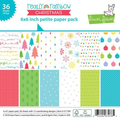 Lawn Fawn Really Rainbow Christmas Paper Pack