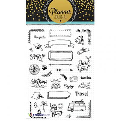 StudioLight Clear Stamps - Planner Journal Nr07
